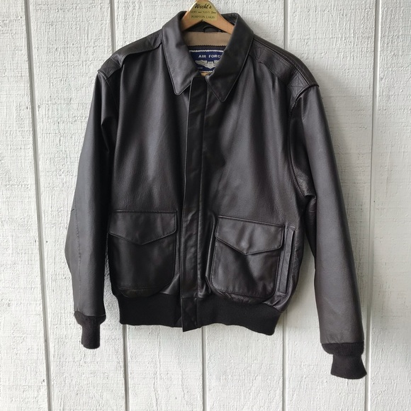2741f4e34 Air Force Airborne Leather Jacket M 🎈SALE🎈
